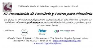 Invitación presentacion 15 de marzo